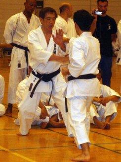 Kancho Kanazawa y David en el Seminario Yudansha-Kai en Tokio 2006.